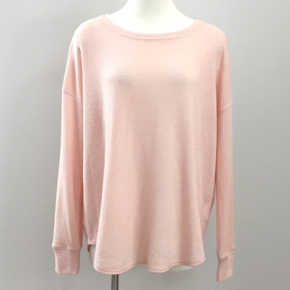 Roots Fuzzy Pink Long Sleeve Pullover